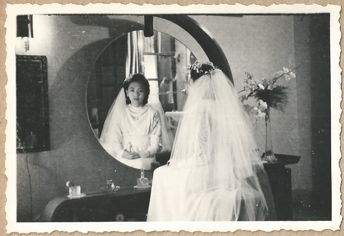Wedding photograph Juliana Cornelia Liem, 1947, Jakarta